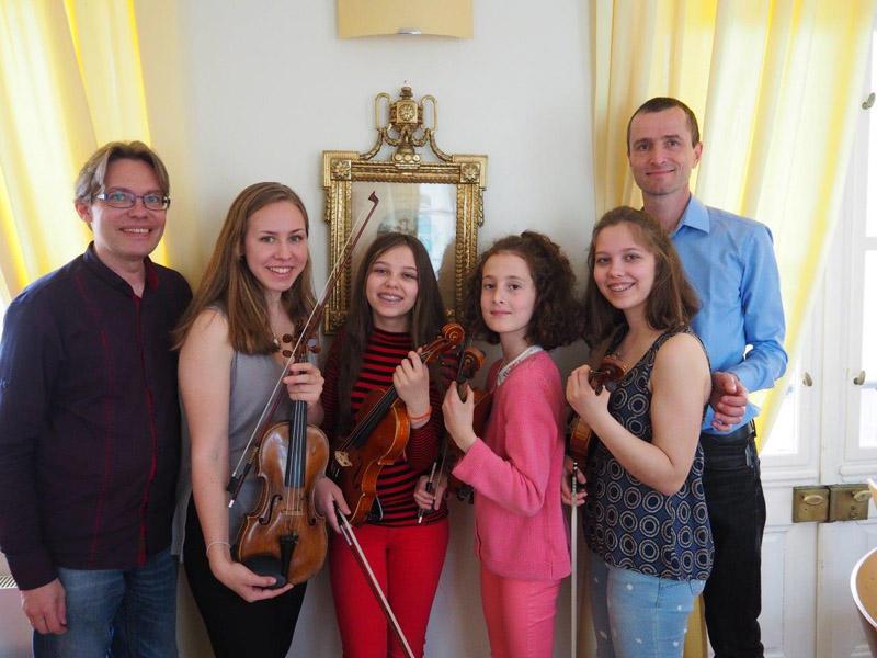 Probenarbeit mit Mitgliedern der Wiener Philharmoniker